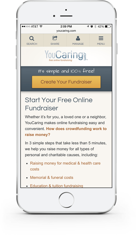 YouCaring iPhone